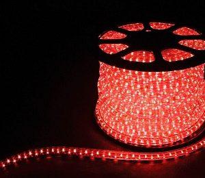 Дюралайт светодиодный  2-х жильный , красный 1,44Вт/м 36LED/м 100м 220V
