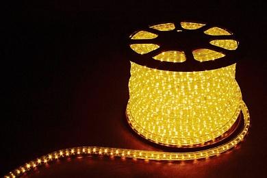 Дюралайт светодиодный  2-х жильный , желтый 1,44Вт/м 36LED/м 100м 220V