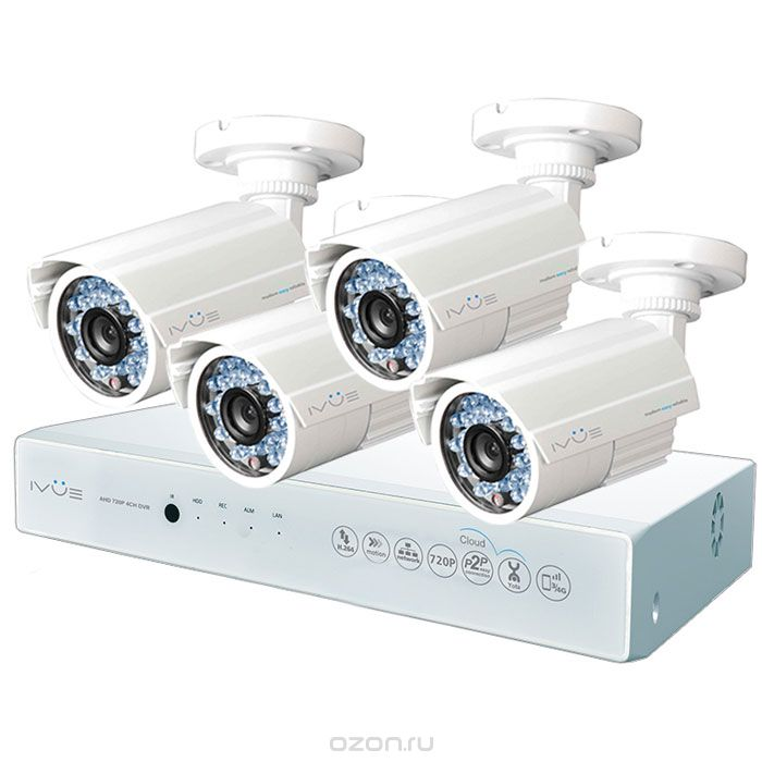 iVue D5004 AHC-B4 Дача 4+4 комплект видеонаблюдения