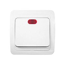 Выключатель одноклавишный / скрытая установка с подсветкой
