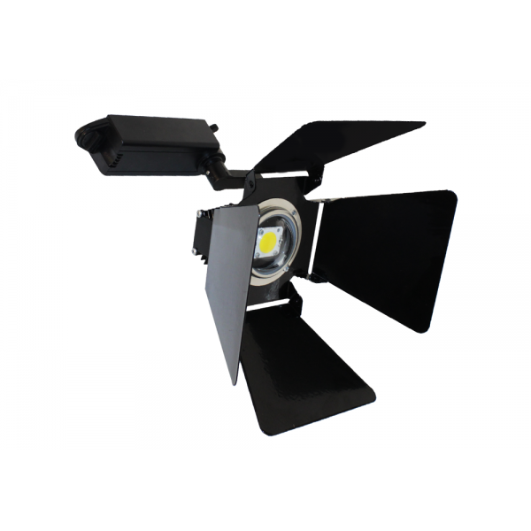 Светодиодный светильник для интерьера трековый COB c регулируемыми шторками 20W